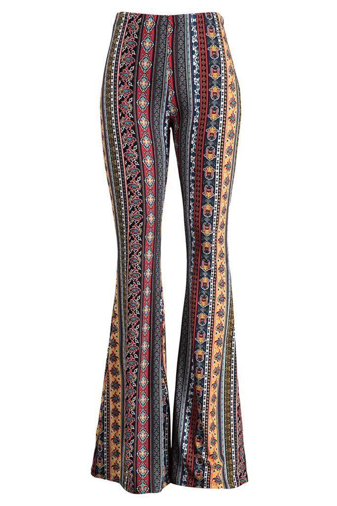Flare Pants Bell Bottoms,Harem Pants,Yoga Pants,Palazzo Pants,Wide Leg Pants,70s Boho Hippie Women Pants,Boho Pants Pants flower pants