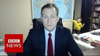 VIDEO: Children interrupt BBC News interview – BBC News