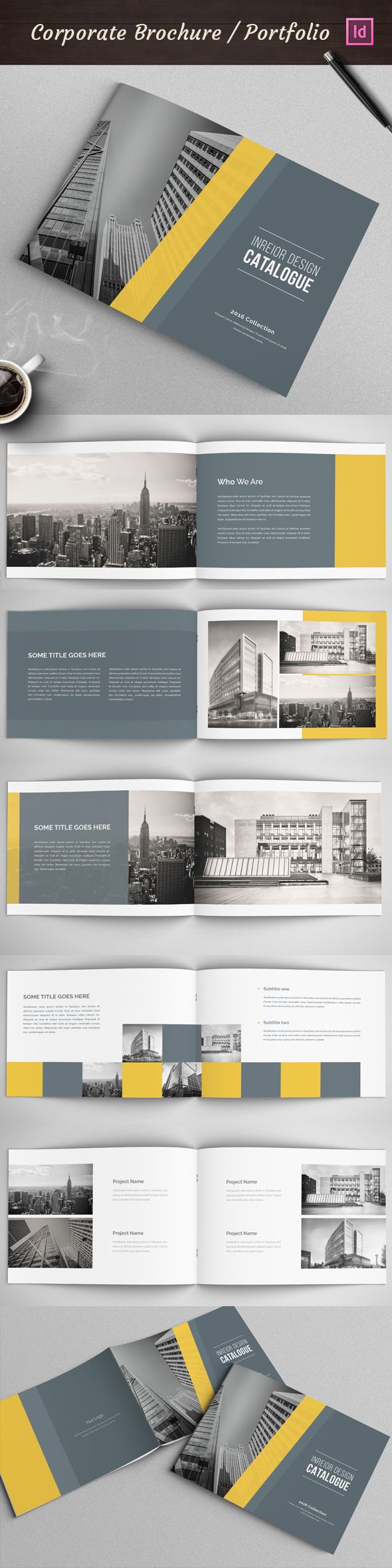 This Is 12 Page Minimal Brochure Catalogs Template For Designers Working On Product