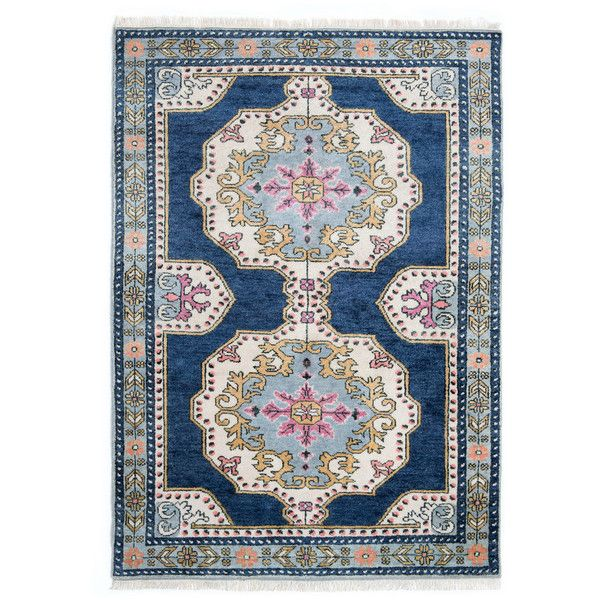 Caitlin Wilson Soleil Navy Area Rug Navy Pink Cream Coral Gold 2 150 Liked On Polyvore Featuring Home Persian Style Rug Caitlin Wilson Rugs Rugs