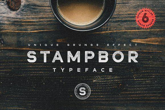 Stampbor Typeface by Artcoast Design Std. on @creativemarket