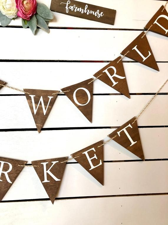 Triangles Personalised Wooden Wedding and Event Bunting