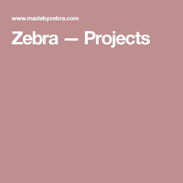 Zebra — Projects