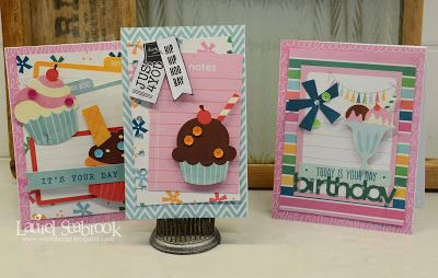 Seabrook Designs: Trio of Girls Birthday Cards