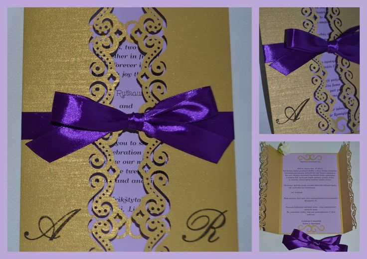 Rankų darbo vestuvinis kvietimas. Handmade wedding invitation. kamelija27@gmail.com