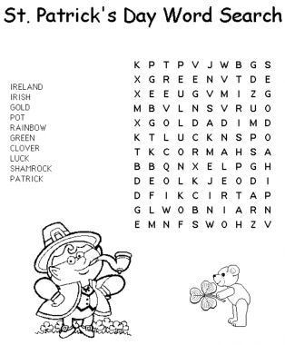 FREE St. Patrick's Day Word Search | St. Patrick's Day Crafts & Recipes - Parenting.com