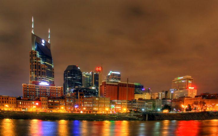 США, Nashville, Теннесси, Ночь