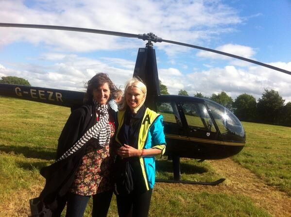 Emma Bridgewater with Anneka Rice... Two ladies I admire
