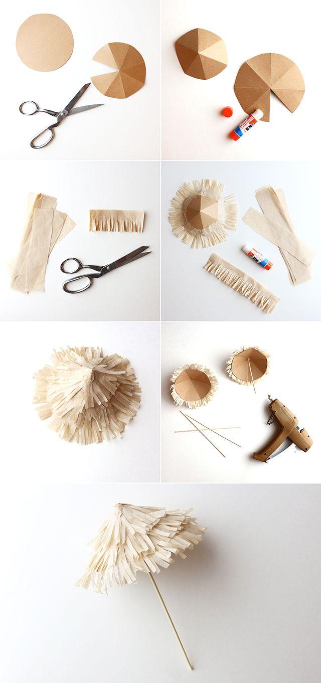 DIY Tiki Drink Umbrellas   alanajonesmann.com
