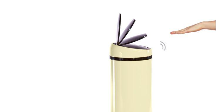 Sensé Bin, poubelle automatique 50L, crème | made.com