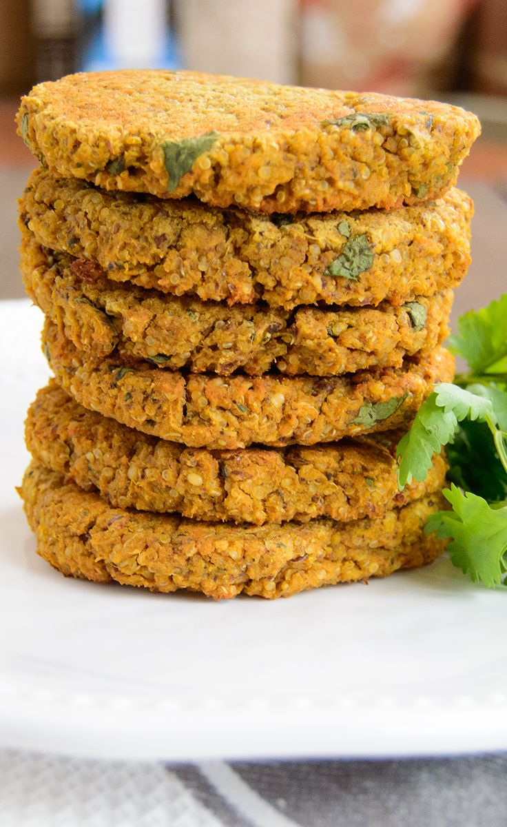 Sweet Potato Lentil Burgers -super easy and low fat! These vegan burgers are full of flavor.