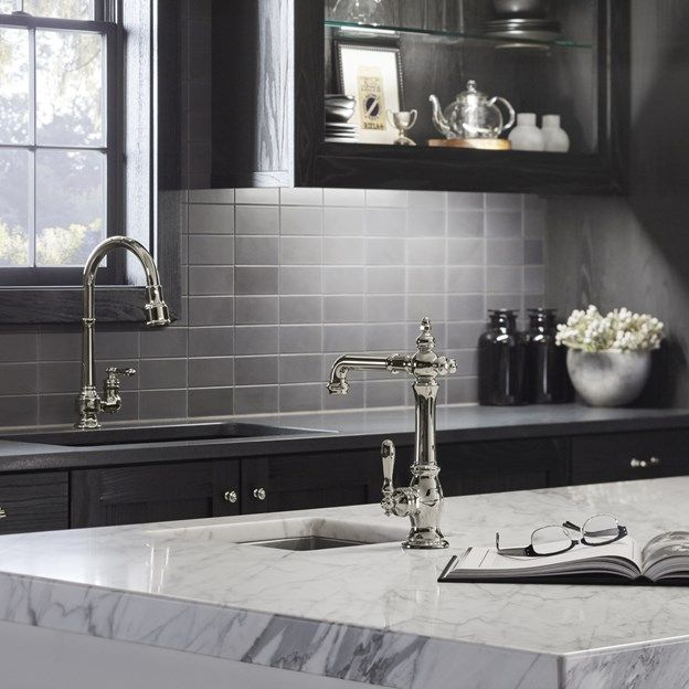 Savoy collection in graphite on the kitchen backsplash and statuary classic  on the kitchen island make - 79 Best Kitchen Images On Pinterest Kitchen Ideas, Tile Ideas