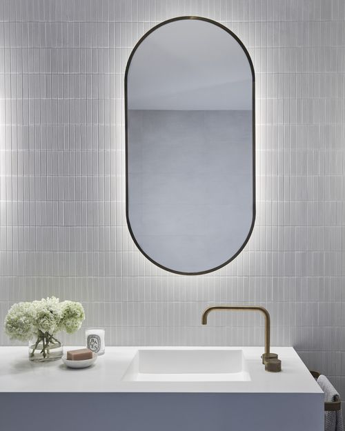 Framed Bathroom Mirrors Australia best 25+ backlit bathroom mirror ideas on pinterest | backlit