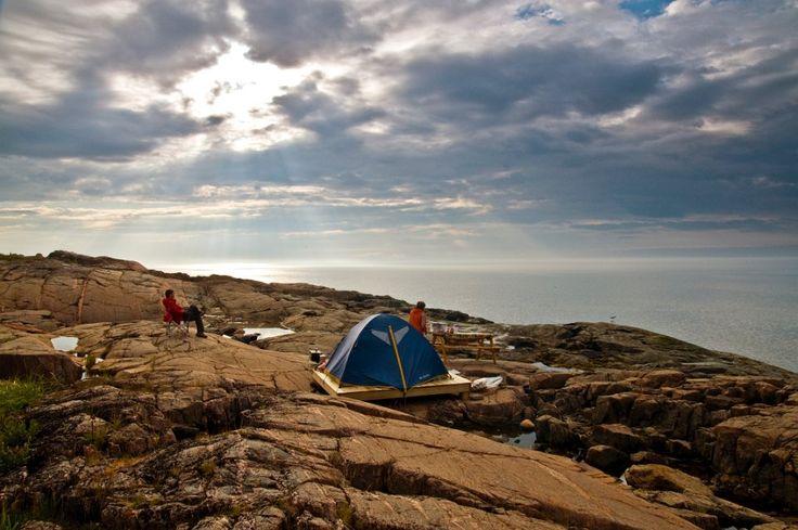 Le camping et les activités nautiques/de plein-air font toujours un bon mélange ! - Station nautique Haute-Côte-Nord