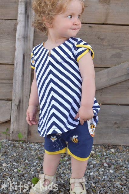 geteilt-durch-Kleid  Schnittmuster von www.erbsenprinzessin.com genäht von kits4kids