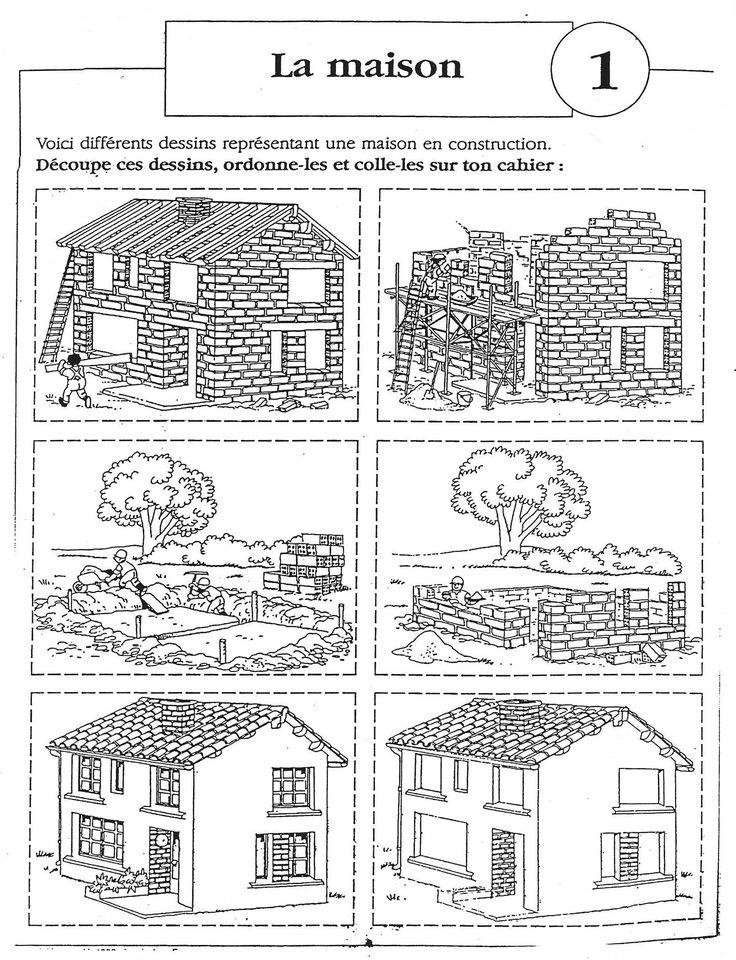 """Images séquentielles """"La construction de la maison"""" (6 images) - Rédaction au primaire"""