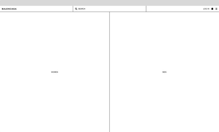 "It's Nice That | Bureau Borsche redesigns Balenciaga's new website to reflect ""norm core"" aesthetics"