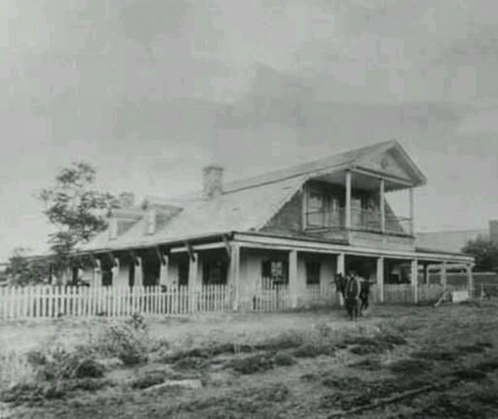 Maxwell house and officers quarter in Fort summer, New mexico. This is where pat Garrett shot billy the kid