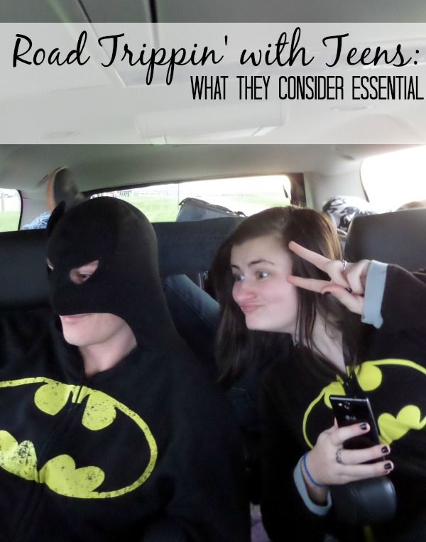 Road Tripping with Teens- What they Consider Essential