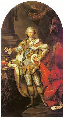 Bacciarelli, Marcello (1731-1818) - 1764 Stanislaw August in Coronation Robes (The Royal Castle, Warsaw, Poland)