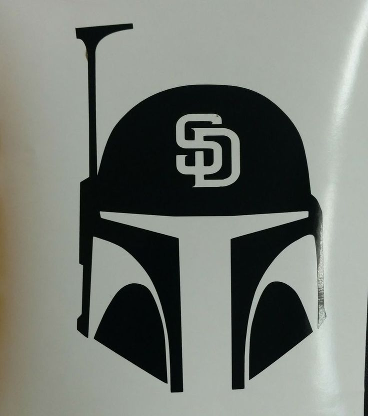 San diego padres decal star wars boba fett die cut vinyl sticker bumper window