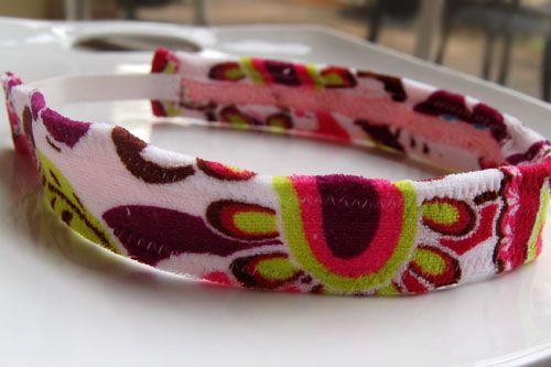 Make a sweatband headband | Craft Snob