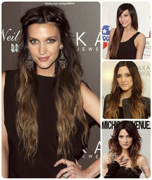 Top 8 Best-selling Cheap Clip in Ombre Human Hair Extensions of Blog.vpfashion ashlee-simpson-long-wavy-brown-ombre-color-with-human-hair-extension-clip-in