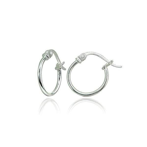 925 Sterling Silver High Polished Twist Round Thin Click-Top Hoop Earrings Diameter 20mm Flashed Rose /& Yellow Gold