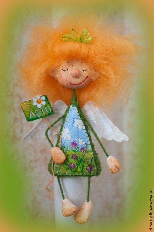 Купить Девчушки для Оксаны - феечка, ангелочек, смешной подарок, магнитик, подвеска, рыжая девочка, Рыжая
