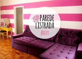 Como pintar uma parede listrada / pink striped wall DIY