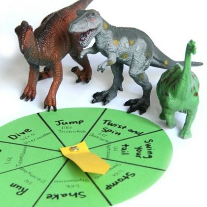 Dinosaur Movement Game - CBeebies loves these Dinosaur party games, activities and craft.