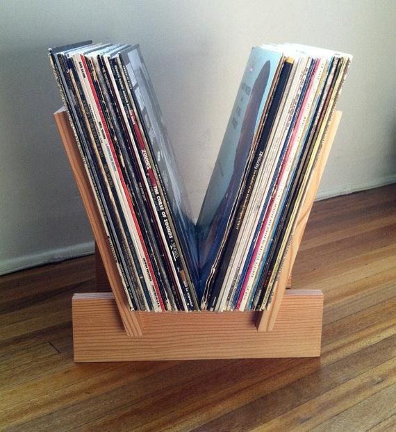 lp record rack via etsy