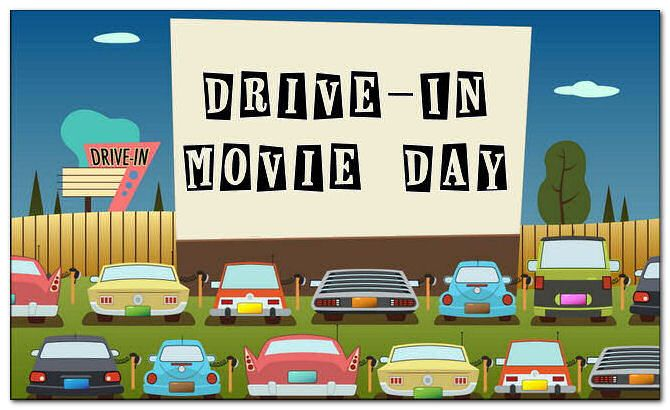 Drive-In Theater Day, June 6 | Drive in movie, Drive in theater ...