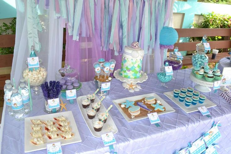 Under the Sea/ Mermaid Party Birthday Party Ideas | Photo 1 of 37 | Catch My Party