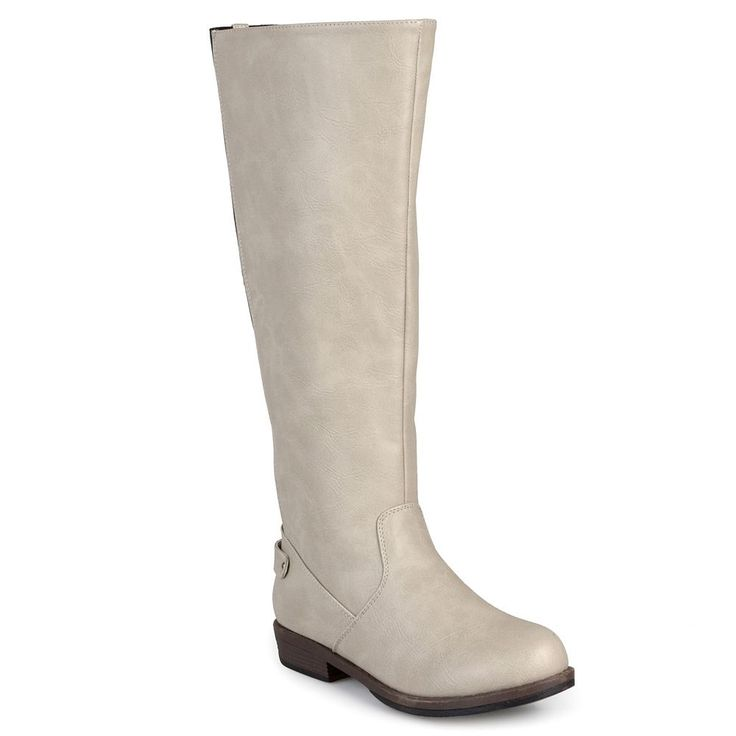 Journee Collection Lynn Women's Tall Riding Boots, Size: 7.5, Natural