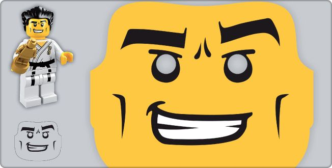 LEGO.com Minifigures : Downloads - Masks - Disco Dude