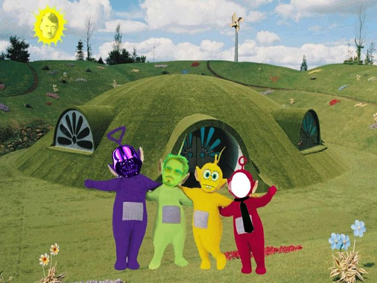 For this project, I didn't use a lot skills, but I need to erase many parts so I can put my head on each Teletubbies. I need the following tool to make this picture: select tool, Magic wand tool, erase tool, also I put a lot layer so if I did some mistake, I won't lost my back ground.