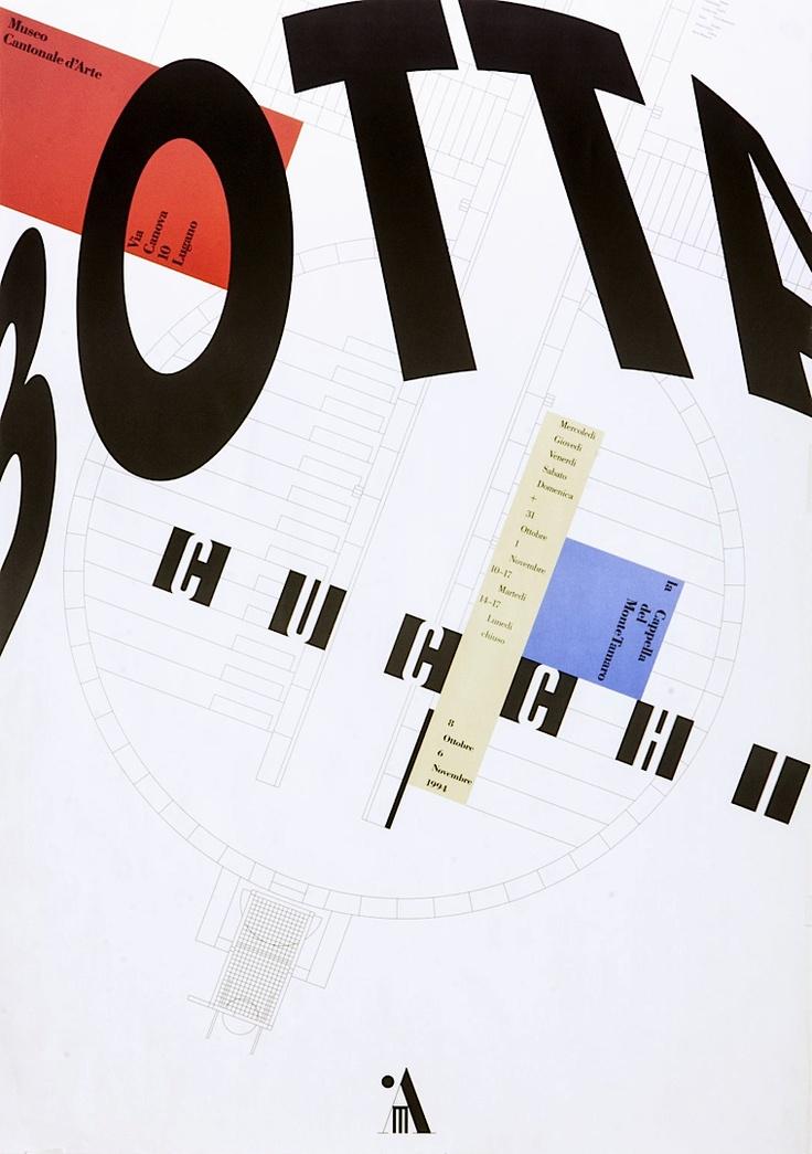 Botta/Cucchi. 1994. Illustrator: Clichés-Color SA, Bioggio. Designer: Bruno Monguzzi. Carnegie Mellon Swiss Poster Collection