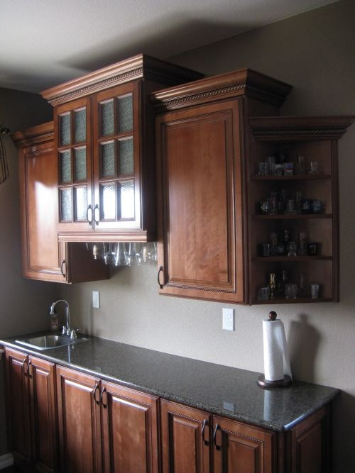 Cabinet refacing home sweet home pinterest for Kitchen cabinets refacing ideas
