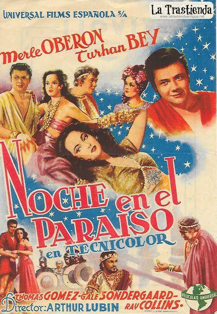 Noche en el Paraíso - Programa de Cine - Merle Oberon - Turhan Bey