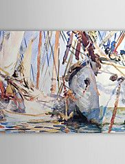 Hand Painted Oil Painting Abstract White Boat w... – AUD $ 97.59