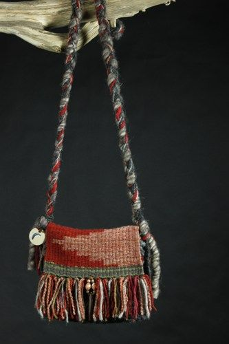 Red River, Hand woven Art Purse | lunaazulstudio - Fiber Arts on ArtFire