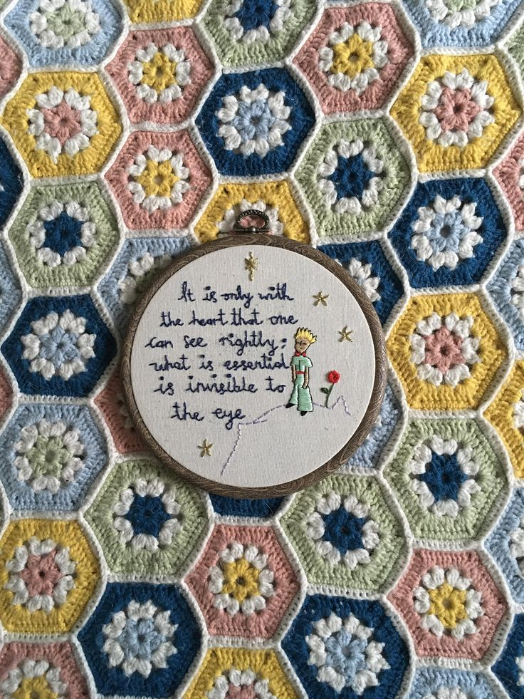 The Little Prince Quote Embroidery Hoop by OffthebeatentrackCo on Etsy