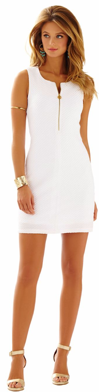 LILLY PULITZER LYND SLEEVELESS SHIFT DRESS: