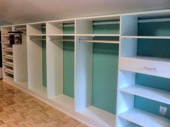 Closet design for slanted ceiling.