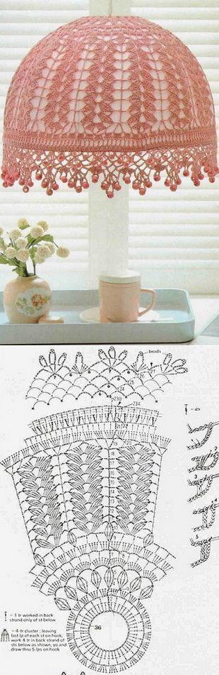 8 best LÁMPARAS images on Pinterest Crochet motif, Crochet pattern