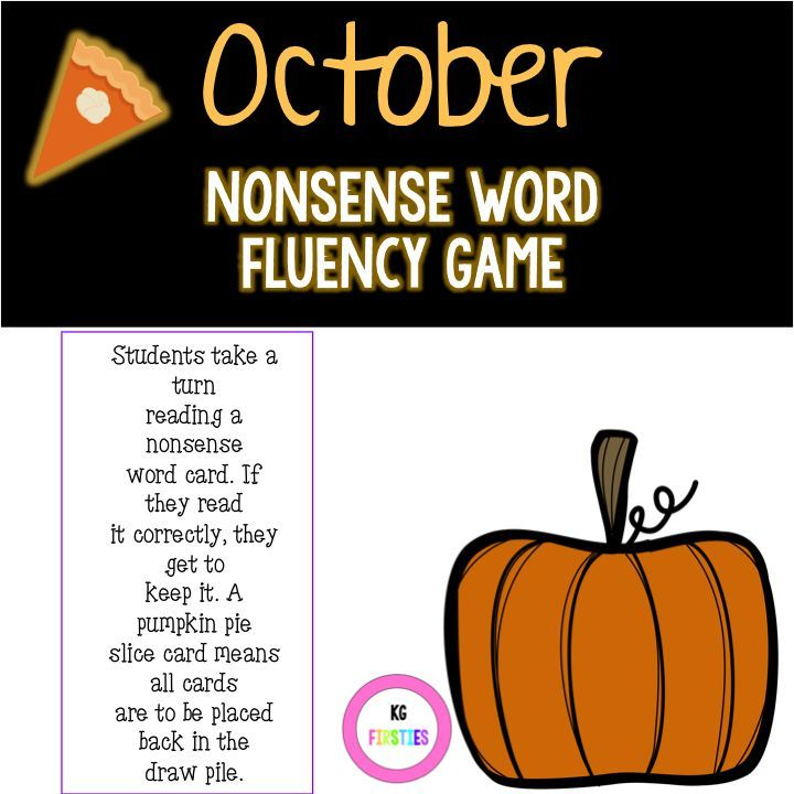 Nonsense word fluency game for small groups