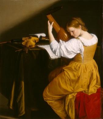 Orazio Gentileschi's The Lute Player