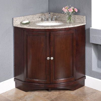 See A Before And After Of A Corner Vanity Bathroom Sink Replacement.