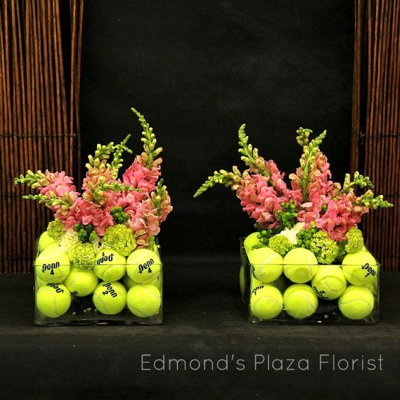"Cool tennis ball vase for every tennis lover!  #tennisdecoration #tennisideas #tennisdiy. Buy tennis balls ---> <a href=""http://www.tenniswarehouse-europe.com/Tennis_Balls.html?lang=en&vat=GR&from=tnewsgr"">link</a>."